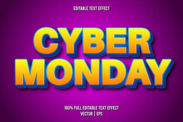 Cyber monday bearbeitbarer texteffekt retro-stil