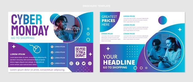 Cyber monday broschürenvorlage mit farbverlauf
