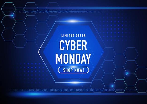 Cyber monday futuristischer hintergrund, eps 10 vektorillustration
