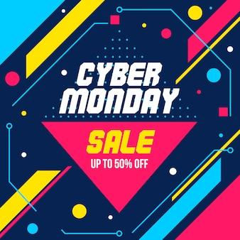 Cyber monday geometrische abstrakte banner