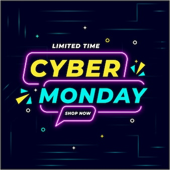 Cyber monday hintergrund illustration