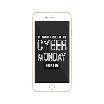Cyber monday mobile werbung design