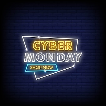 Cyber monday neon signs-art-text-vektor