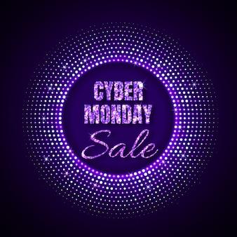 Cyber monday sale technologie hintergrund im neonstil