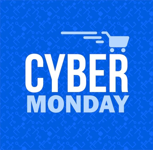 Cyber monday-verkaufshintergrund