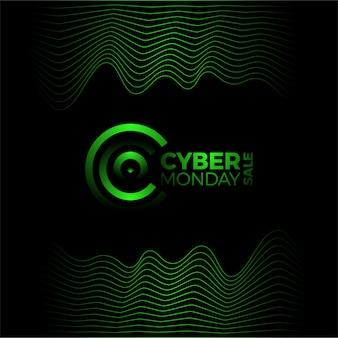Cyber monday werbeplakat mit buchstabe c logo