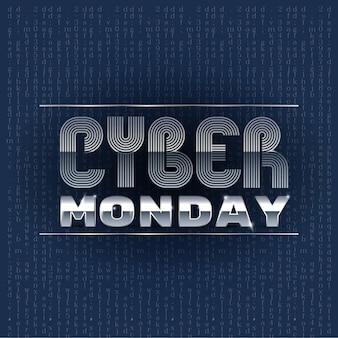Cyber-montag-angebote entwerfen, grafik der vektorillustration eps10