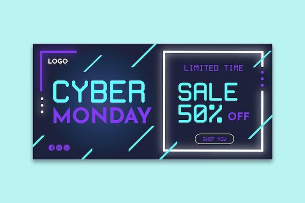 Cyber montag banner konzept
