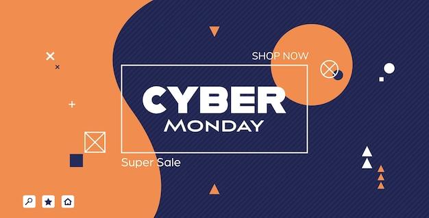 Cyber montag big sale banner werbung sonderangebot