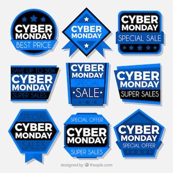 Cyber montag etiketten
