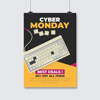 Cyber montag flyer