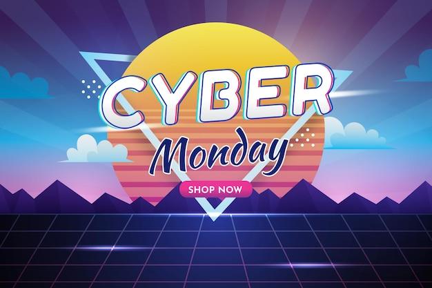 Cyber-montag-hintergrund mit farbverlauf