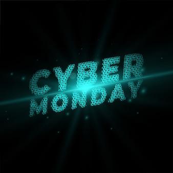 Cyber montag in technologie stil banner geschrieben