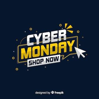 Cyber-montag-konzept, das sie jetzt kaufen lässt