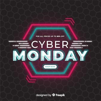 Cyber-montag-konzept im flachen design