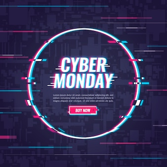 Cyber-montag-konzept mit störschubeffekt