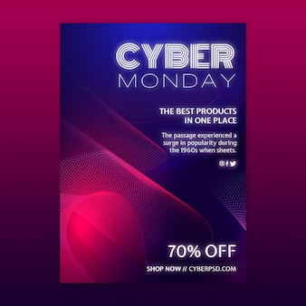 Cyber montag konzeptvorlage