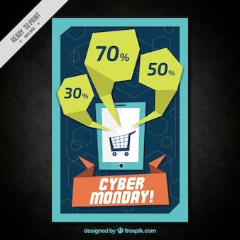 Cyber montag modernen einkaufs broschüre