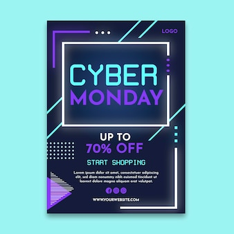 Cyber montag poster a4