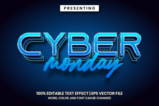 Cyber-montag-texteffektstil