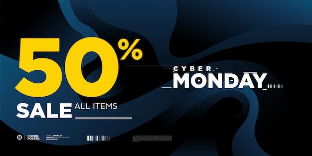 Cyber montag verkauf 50% banner vorlage