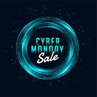Cyber montag verkauf vorlage banner für online-shopping