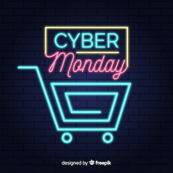 Cyber-montag-verkaufshintergrund-neonart
