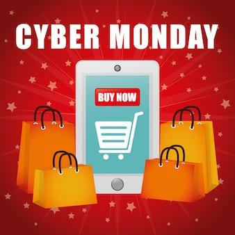 Cyber montags E-Commerce-Aktionen und -Verkauf