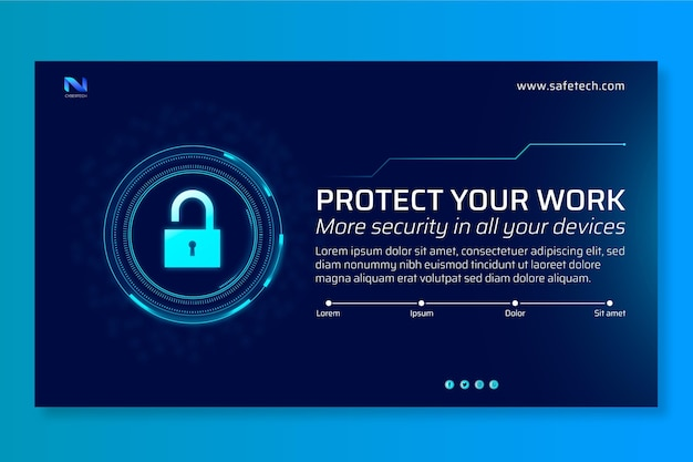 Cyber security banner vorlage