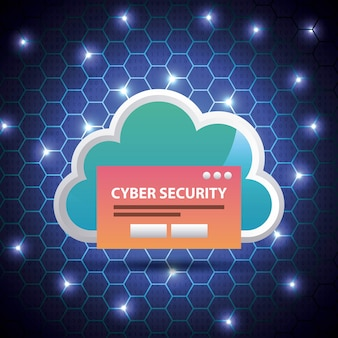 Cyber-sicherheit blue hive binär-schaltung hintergrund cloud-access-passwort