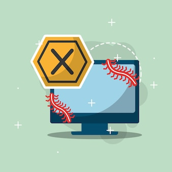 Cyber-sicherheit computer gerät fehler wurmangriff