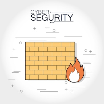 Cyber-Sicherheits-Firewall-Elemente