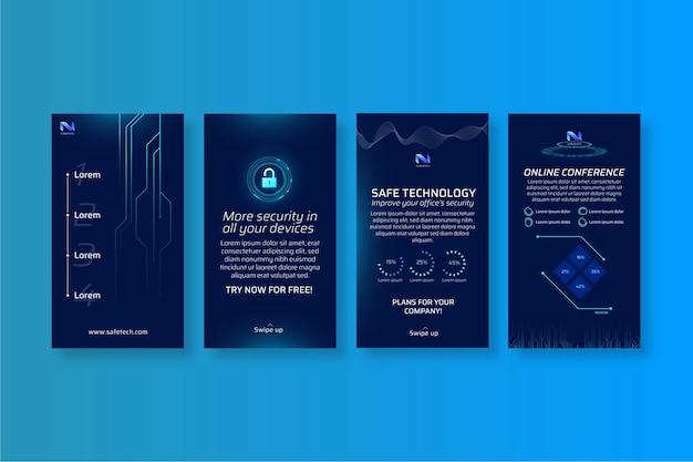 Cyber-sicherheits-instagram-geschichten