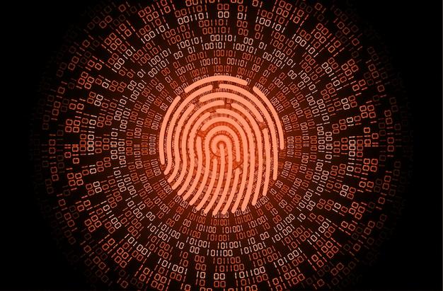 Cyber-sicherheitshintergrund des fingerabdrucknetzwerks, geschlossenes vorhängeschloss