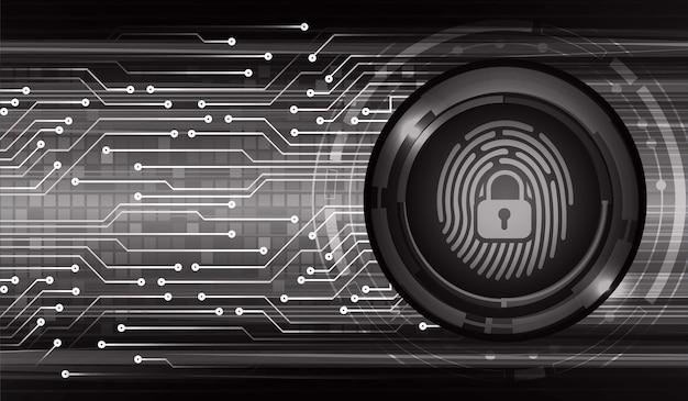 Cyber-sicherheitshintergrund des fingerabdrucknetzwerks.