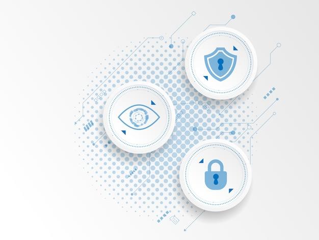 Cyber-sicherheitskonzept mit abstraktem technologiehintergrund