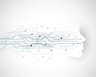 Cyber-Technologie-Konzept-Design