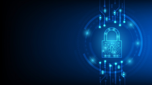 Cyber-technologie-sicherheit, netzwerkschutz-hintergrund