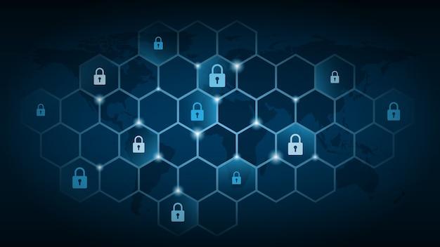 Cyber-technologiesicherheit, netzwerkschutzhintergrund