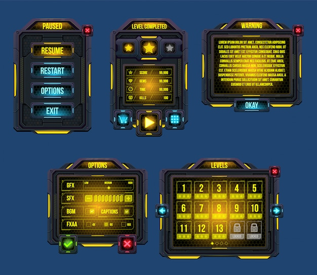 Cyber world-spielefenster