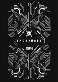 Cyberpunk futuristisches plakat. retro futuristische plakatschablone. tech abstract plakat vorlage.