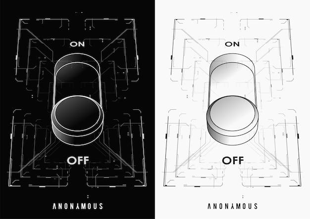 Cyberpunk futuristisches plakat