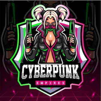 Cyberpunk-maskottchen. esport-logo