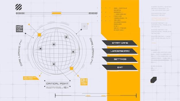 Cyberpunk-menüschnittstelle futuristisches abstraktes hud gut für spiel-ui-vektor-illustration eps10