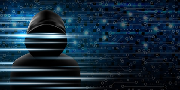 Cybersecurity-konzept von hacker