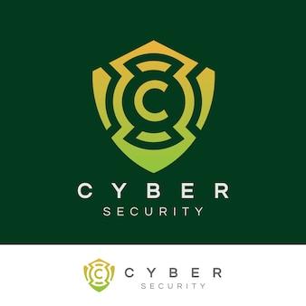Cybersicherheit anfangsbuchstabe c logo design Premium Vektoren