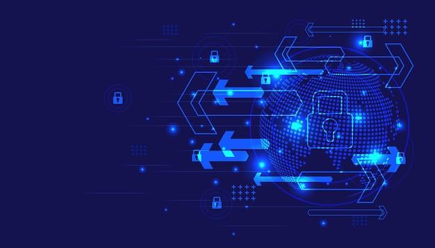 Cybersicherheit und informations- oder netzwerkschutz. hintergrund der zukunftstechnologie.