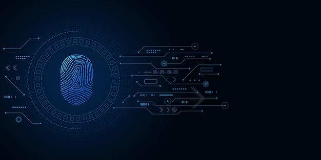Cybersicherheit und passwortkontrolle durch fingerabdrücke, zugriff mit biometrischer identifikation