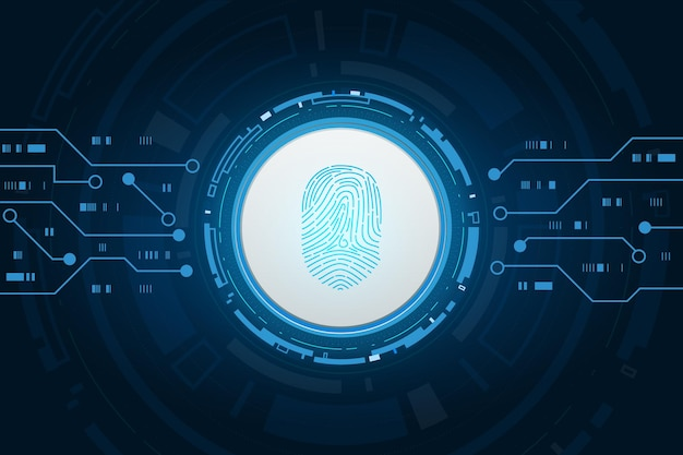 Cybersicherheit und passwortkontrolle durch fingerabdrücke