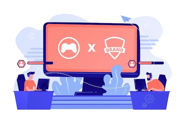Cybersportwettbewerb. markenspielspieler spielen